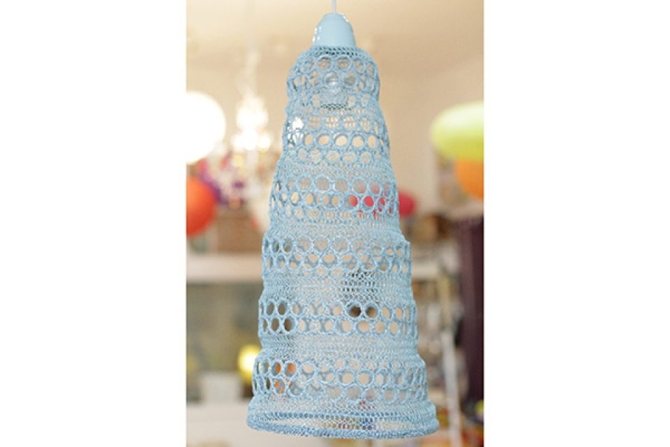 Luster od pletene žice/plavi/25x60cm