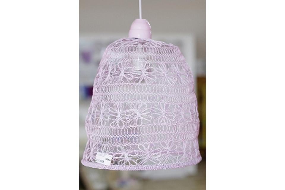 Luster od pletene žice/svetlo roze/30x40cm