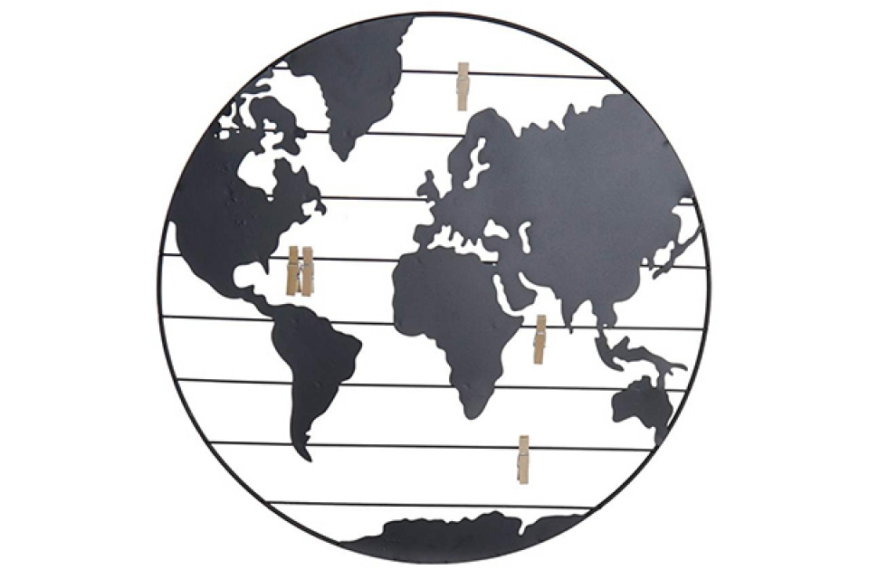 Memo dekoracija world 40x1x40