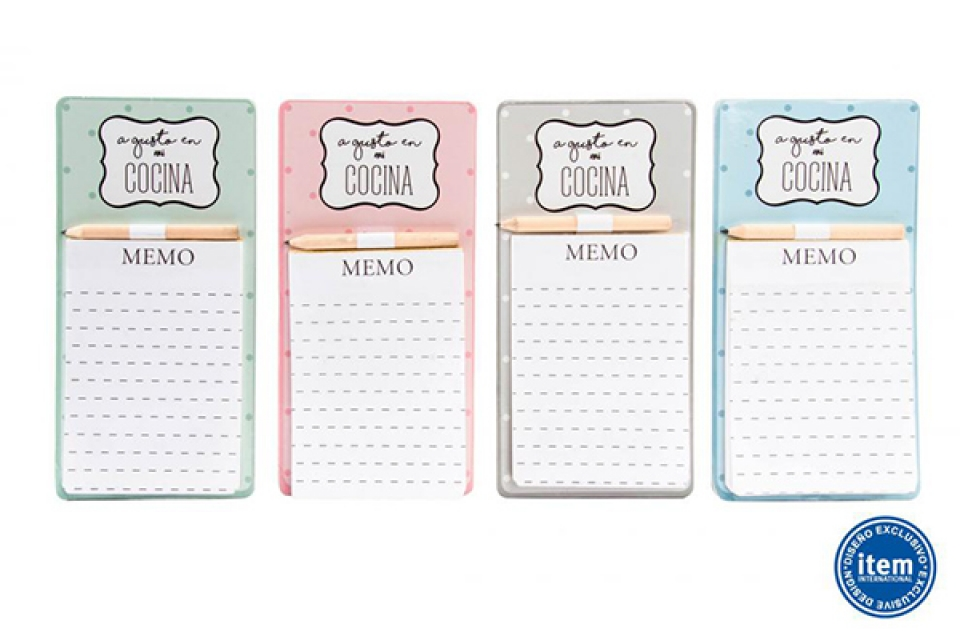 Memo notes magnet set / papir 10x20