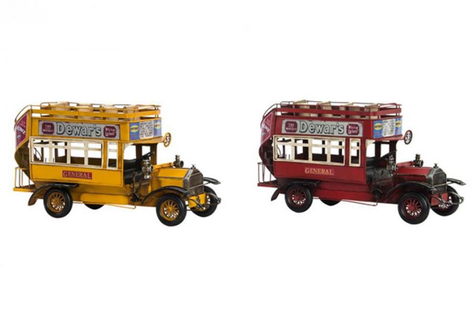 Metalna dekoracija bus aged 35x13x18 2 modela