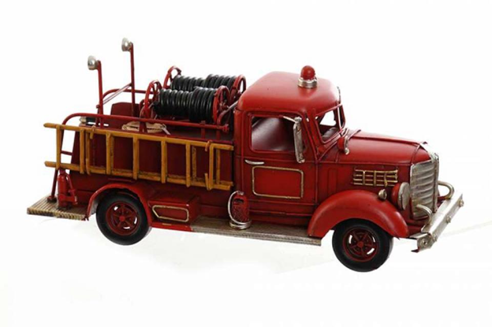 Metalna dekoracija crveni kamion 25x10x11