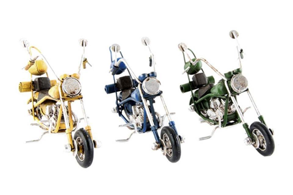 Metalna dekoracija motor 13x5,5x7,5 3 modela