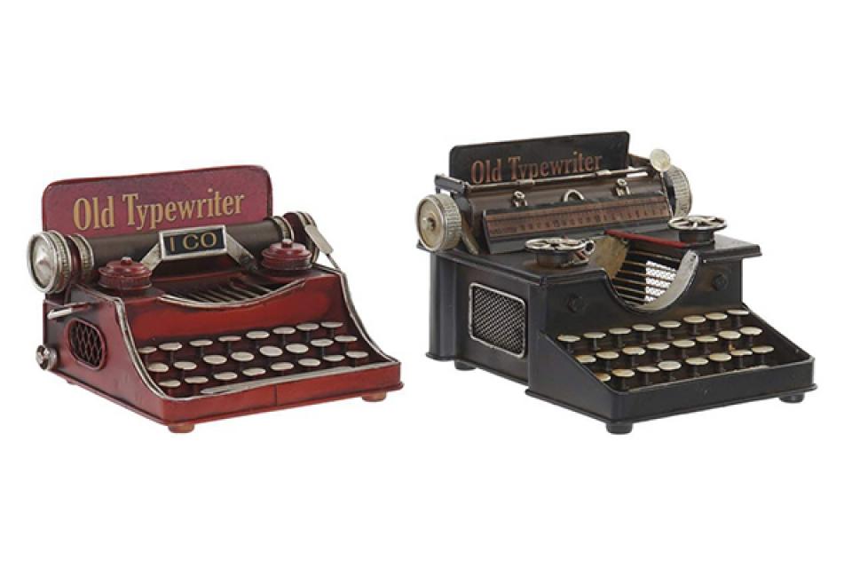 Metalna dekoracija pisaća mašina 17x17x13 2 modela