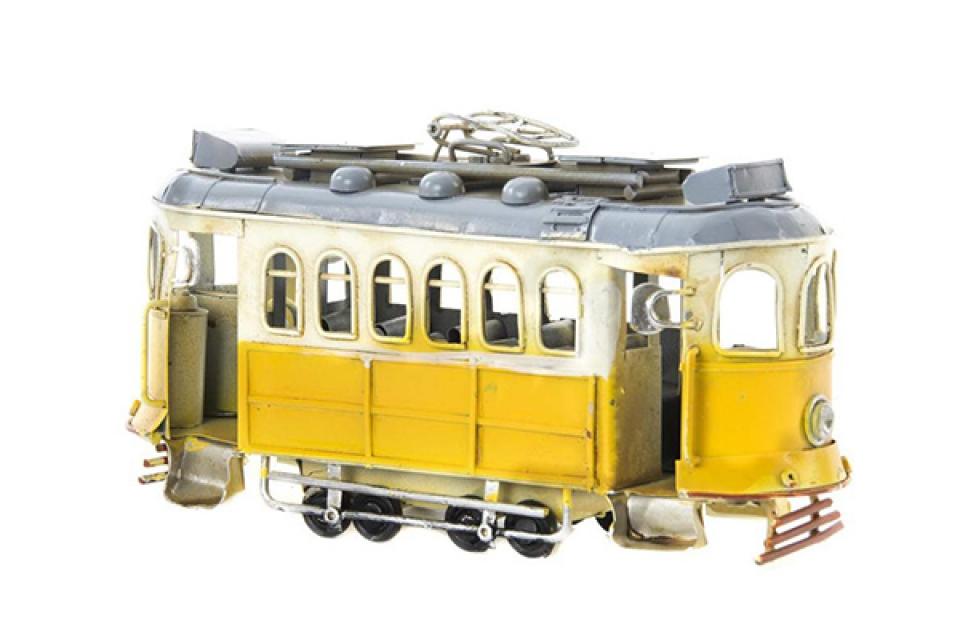 Metalna dekoracija trolejbus 20x7x12