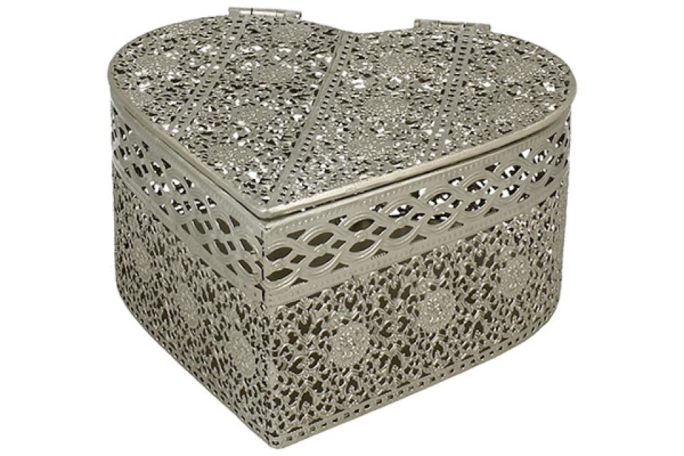 Metalna kutija srce 17,5x19x9