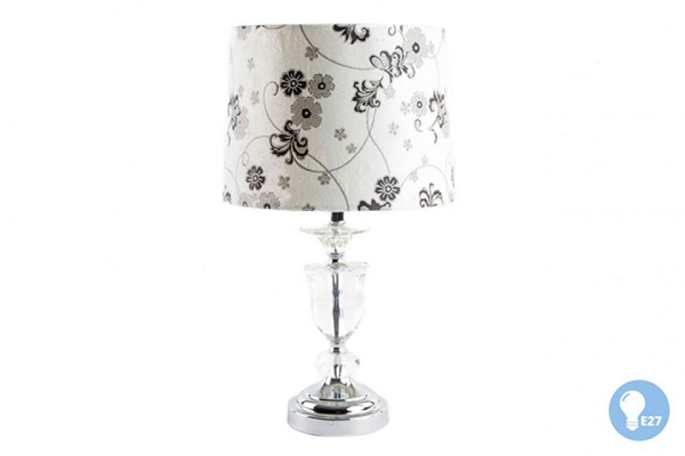 Metalna lampa sa cvetnim abažurom 28x48 e27