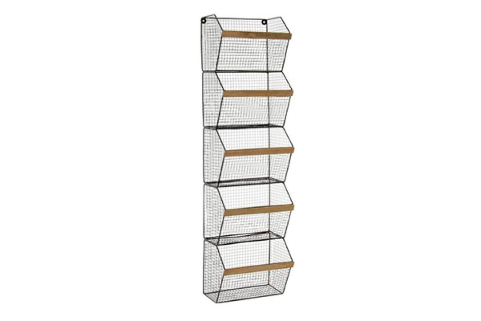 Metalna zidna polica 24x15,3x90,5