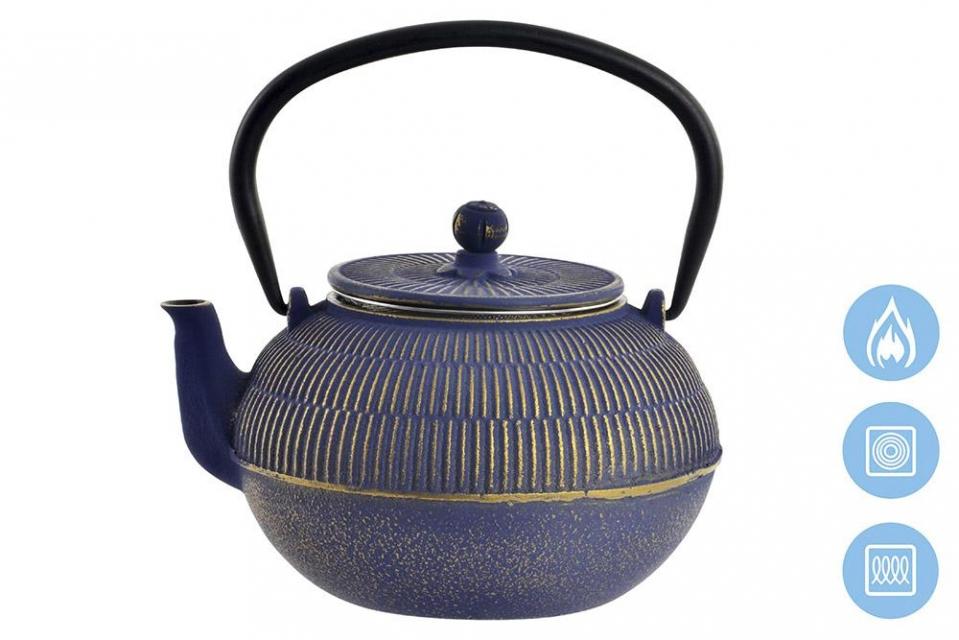 Metalni  čajnik violet 17x15x12 900 ml.