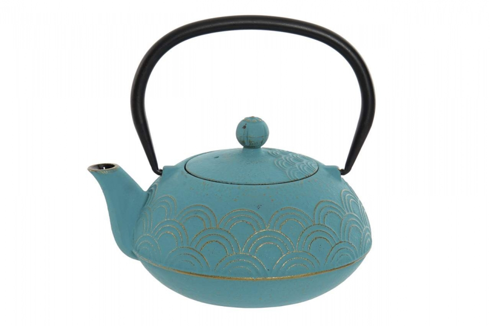 Metalni  čajnik violet 18x15x10 900 ml.