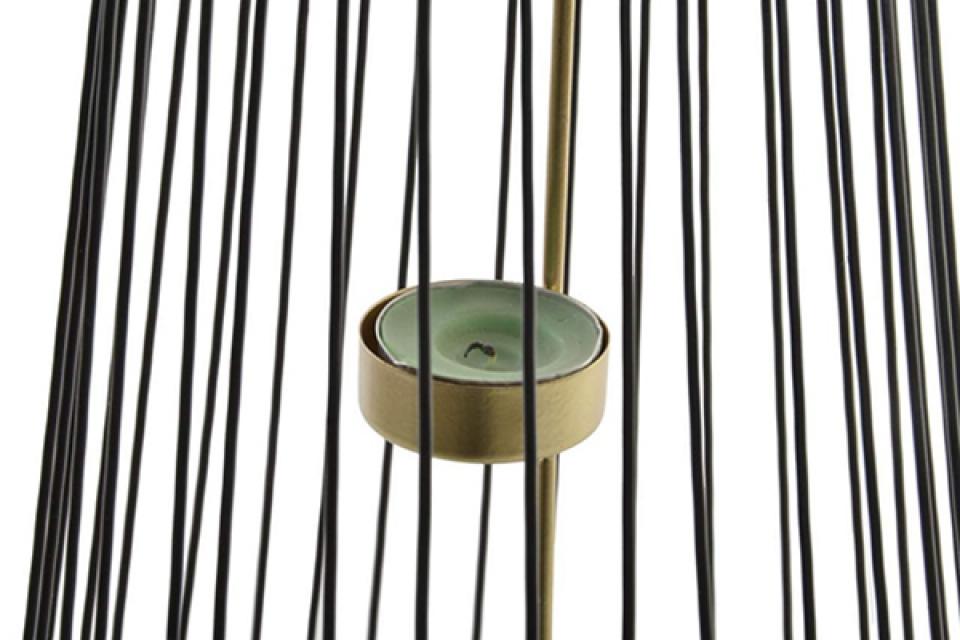 Metalni svećnjak black 19x37