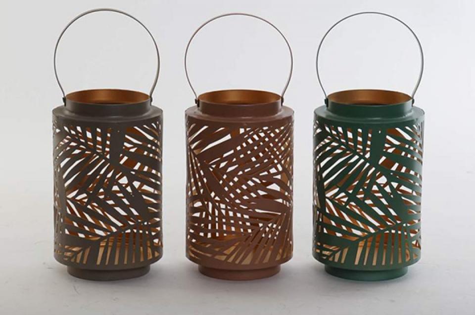 Metalni svećnjak liske 11,5x20 3 modela