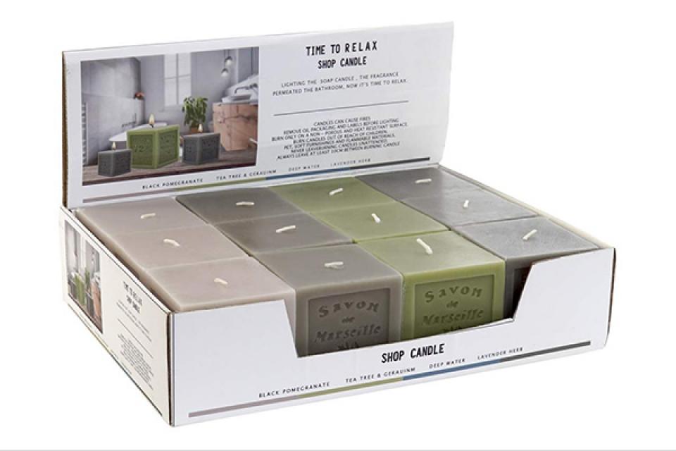 Mirišljava sveća bath 7x7x7 4 modela