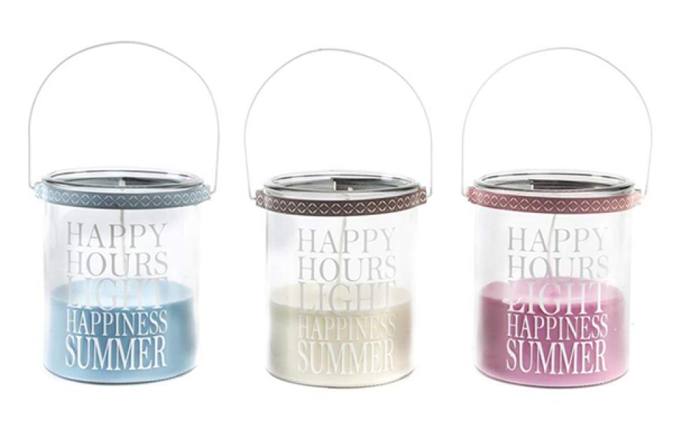 Mirišljava sveća happy hours 12x15 3 boje