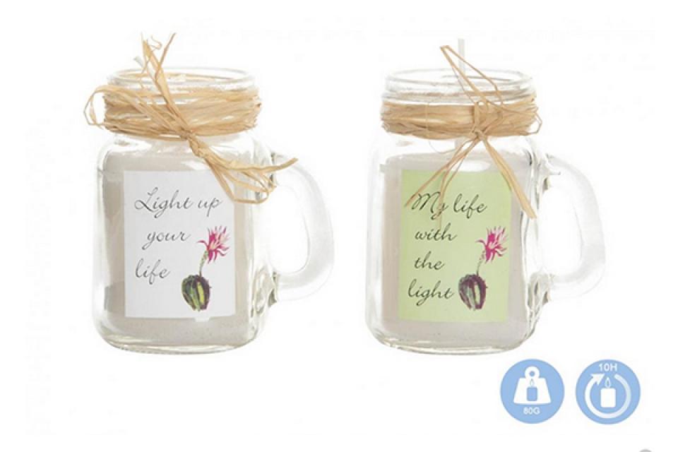 Mirišljava sveća u teglici  kaktus 5x7,8x8,5 2 mod