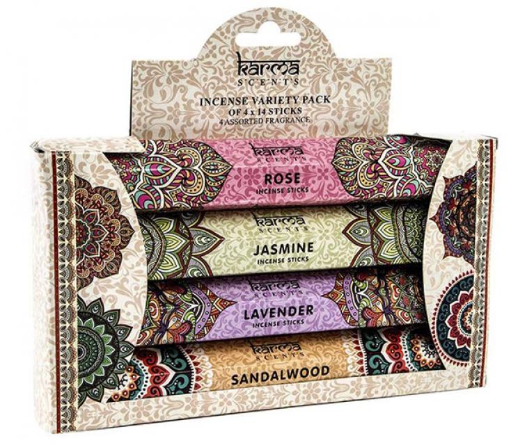 Set 4 kutijice mirišljavih štapića mandala / 4x14 kom 20 cm
