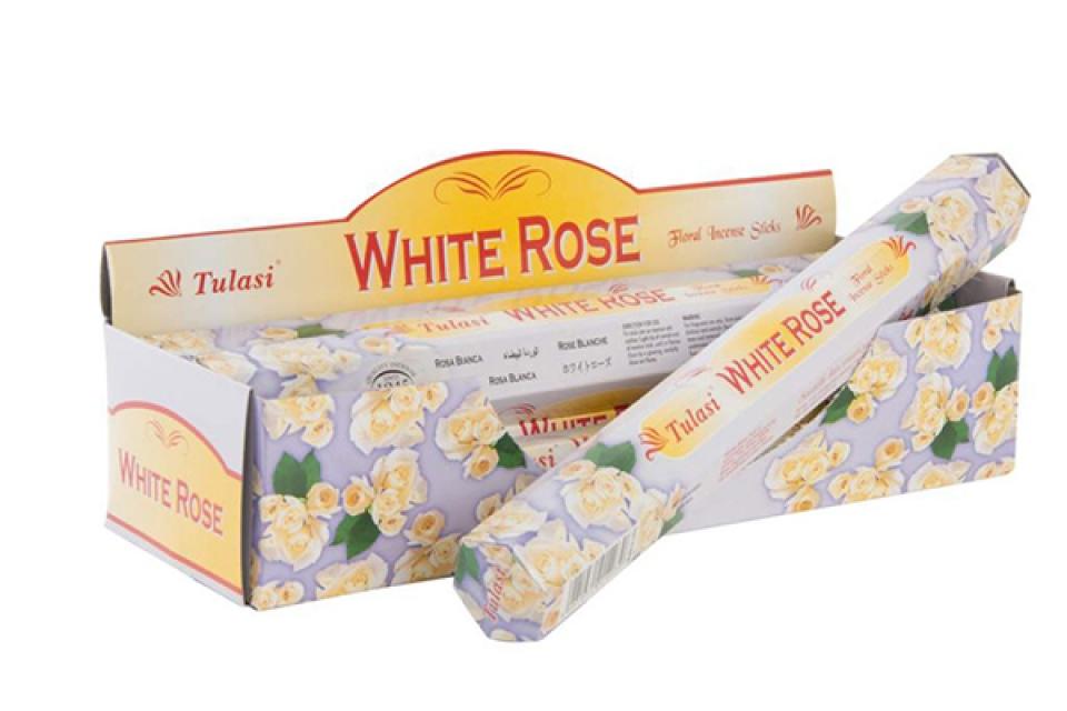 Mirišljavi štapići bela ruža / 20 25 cm
