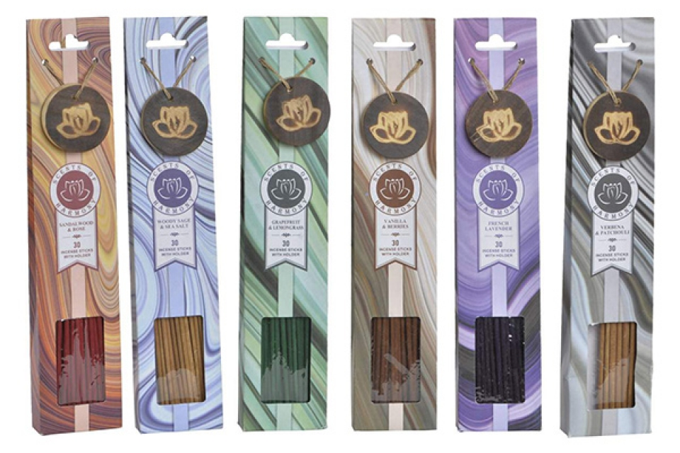 Mirisni štapići boje 6x2,5x30 6 modela