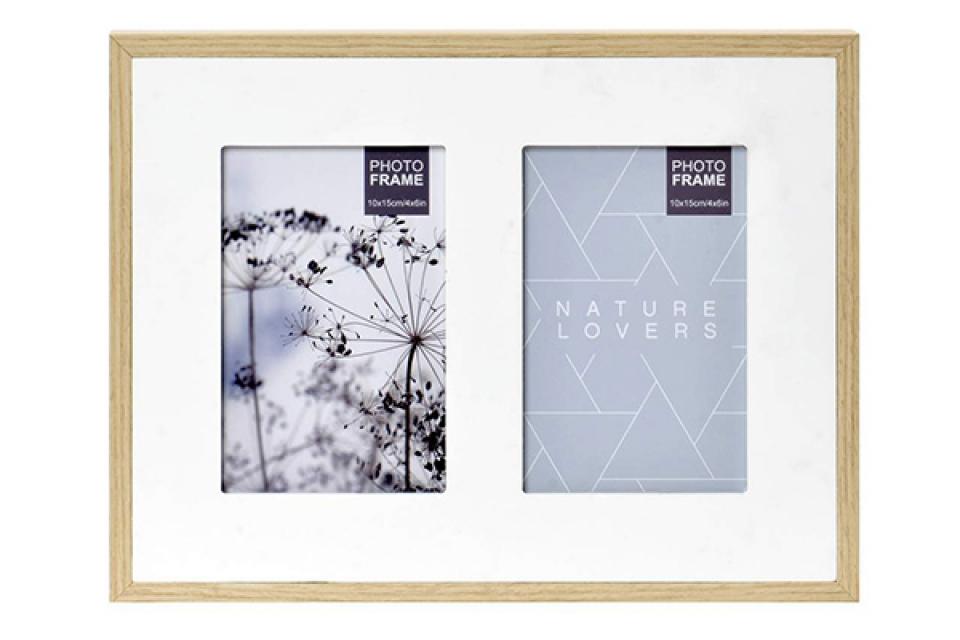 Natur ram za dve fotografije 30x3x23