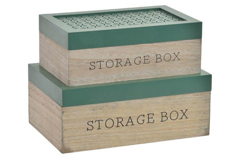 Natur zeleni set kutija / 2 27x18x11