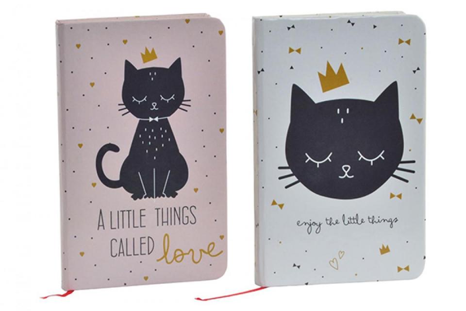 Notes black cat 9,5x14,5 2 modela