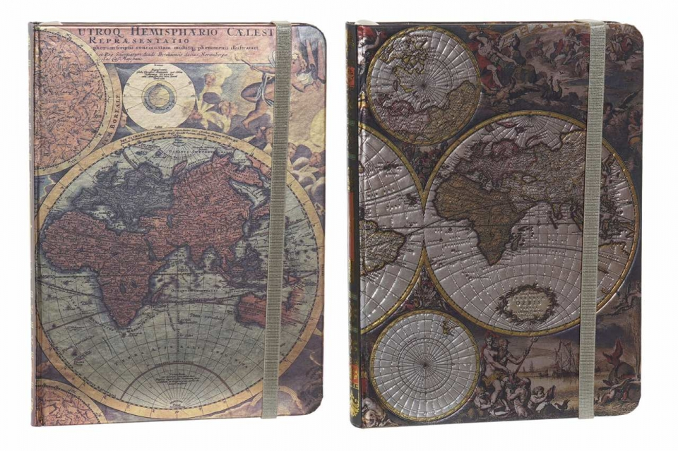 Notes world map 13,5x18x1,5 2 modela