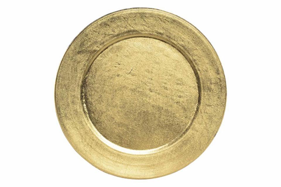 Novogodišnji tanjir gold 13 cm