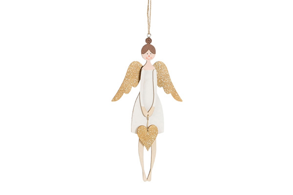 Novogodišnji ukras anđeo 10x1,5x21,7