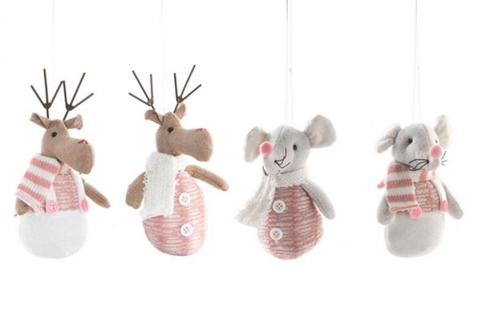 Novogodišnji ukras reindeer 9x15 2 mod