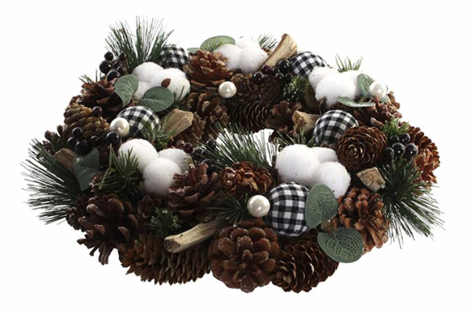 Novogodišnji venac pine 35x9x35