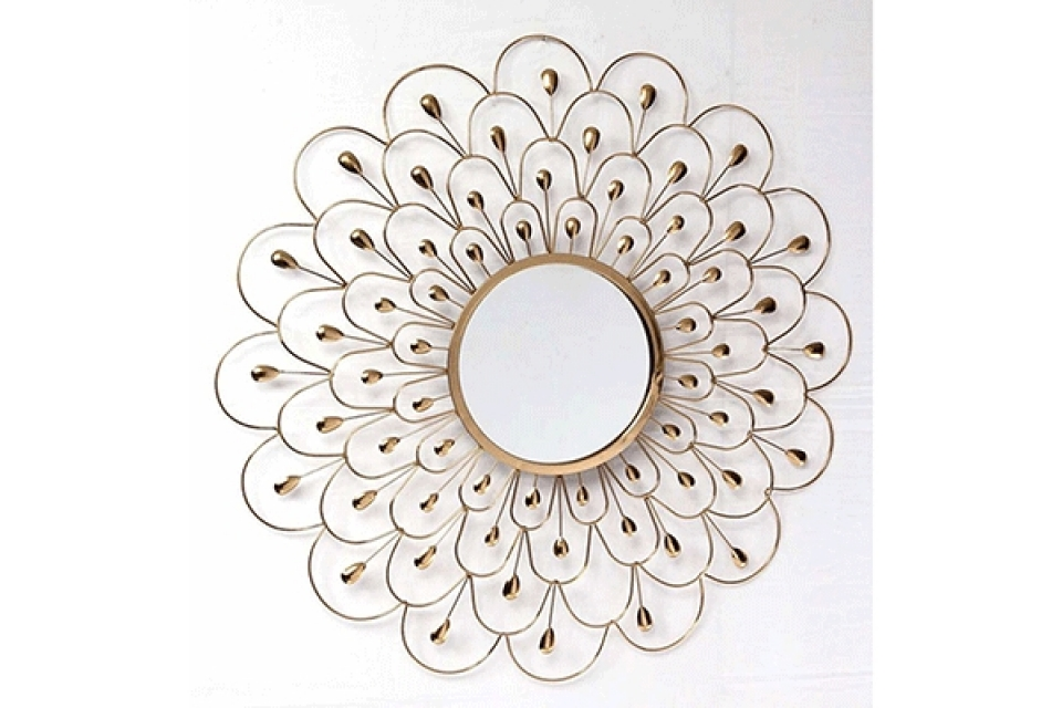 Ogledalo golden 90x3x90 / metal