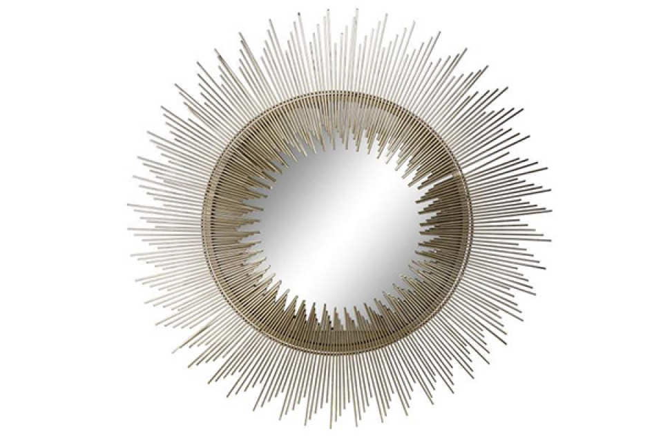Ogledalo zlatno sunce 82x2x82