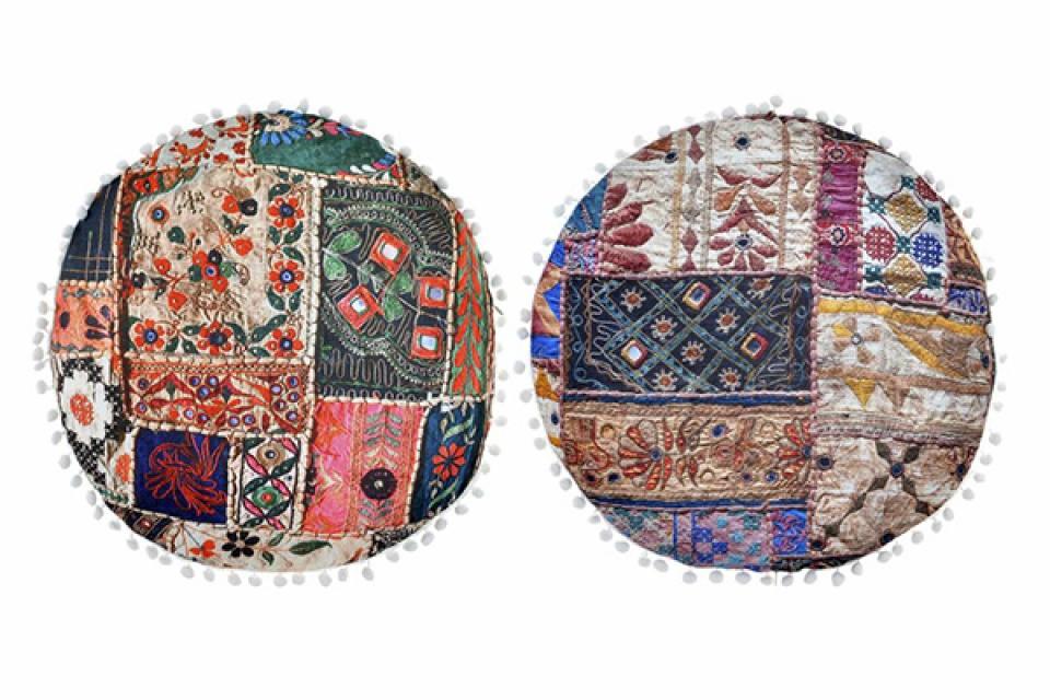 Okrugli jastuk ethnic 45x45x10 500 gr. 2 modela