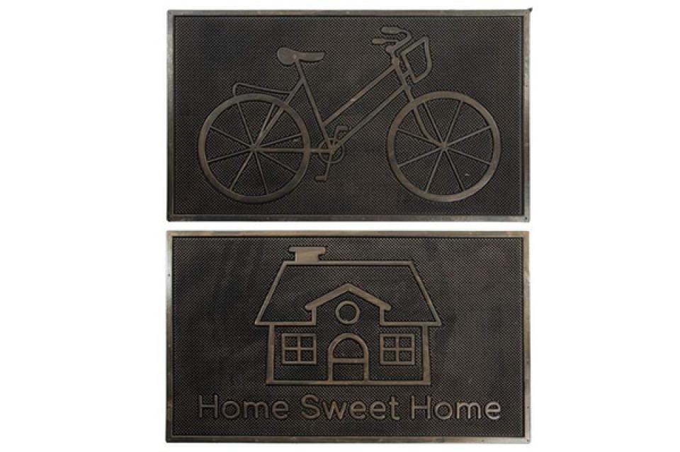 Otirač bicikl i kućica / guma 75x45 2 modela