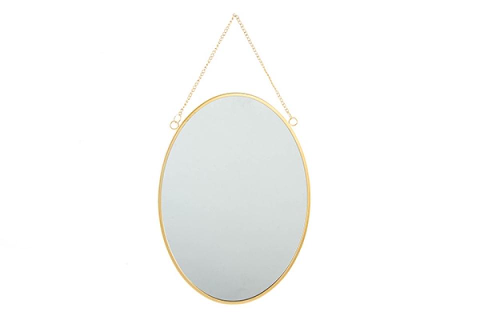Ovalno zlatno ogledalo 25x35x1