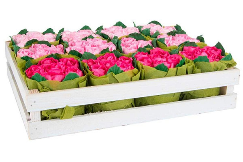 Papirna dekoracija ružice 3 boje