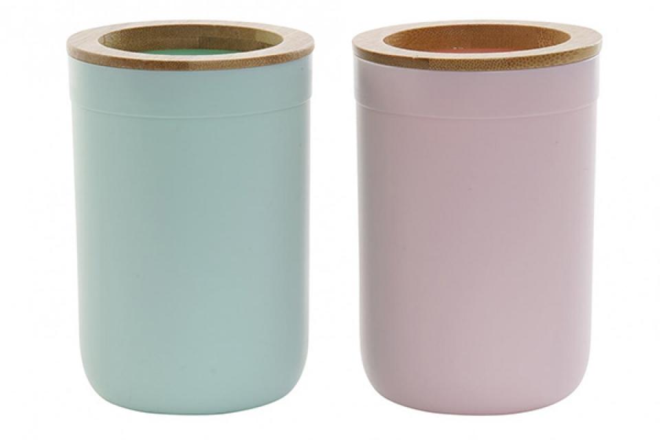 Pastelna čaša za četkice  7,4x7,4x11,2 2 modela