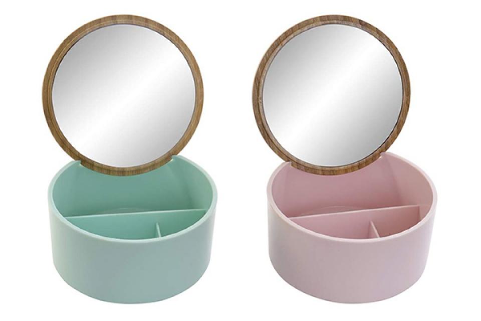 Pastelna kutija sa ogledalom 13,5x13,5x7 2 modela