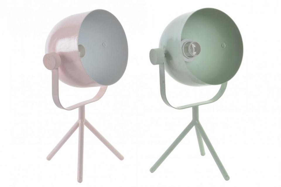 Pastelna stona lampa 15x15x31 2 boje