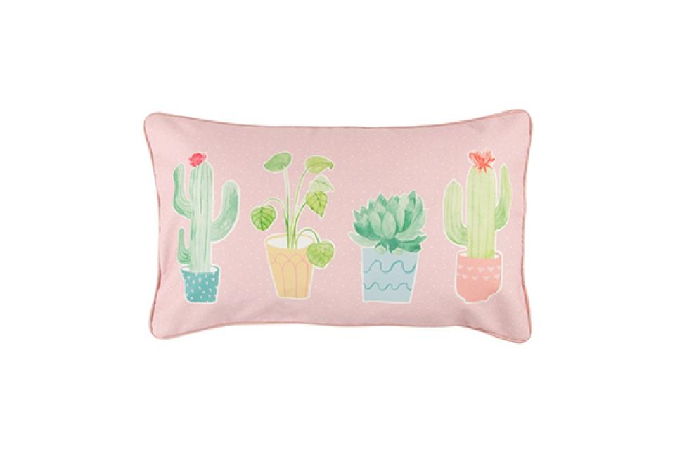 Pastelni kaktus jastuk 50 x 30