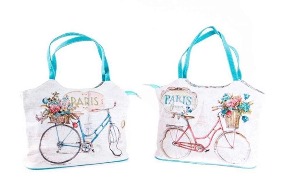 Platnena torba bicikl41x13x31 2 boje