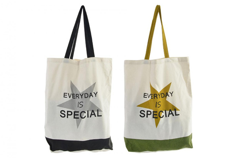 Platnena torba zvezda 36x42 2 modela