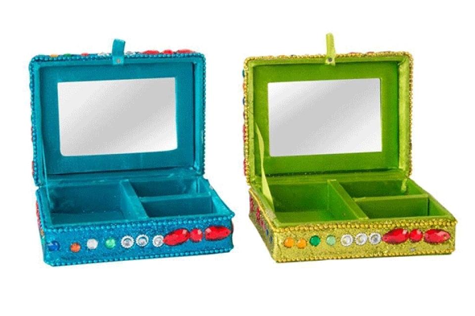 Plava i zelena kutija za nakit 10,5x7,5x4 2 boje