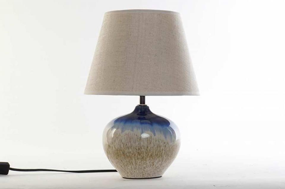 Plava keramička lampa 25x35