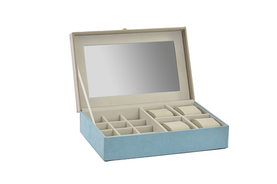 Plava kutija za nakit 25x16x7