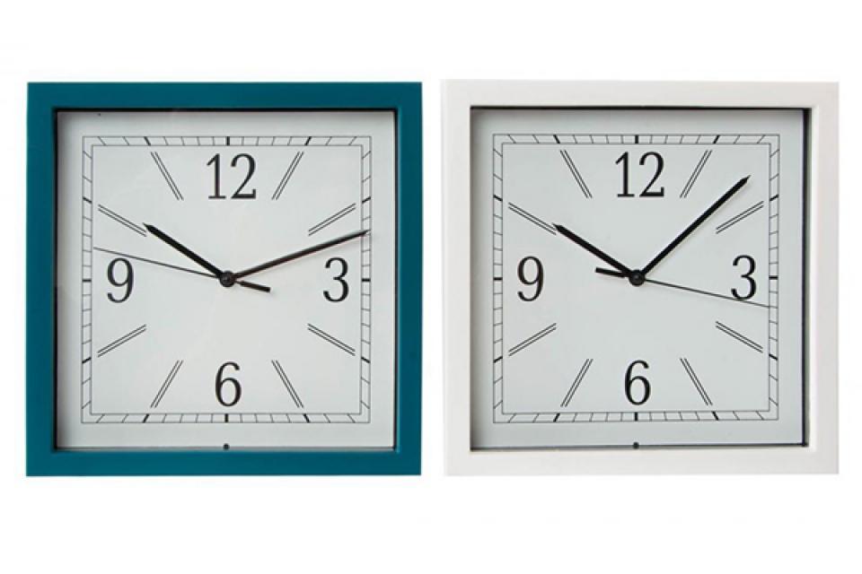 Plavi i beli sat 23x23x6 2 boje