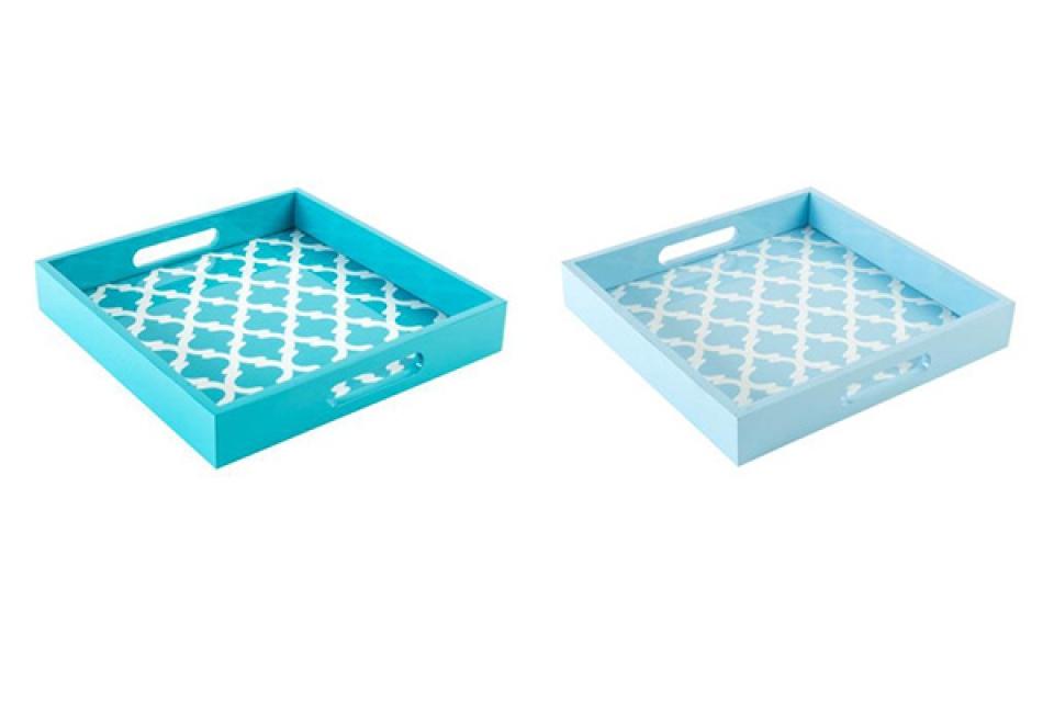 Plavi poslužavnik  30x30x5 2 modela