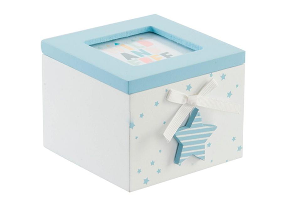 Plavo bela kutija zvezda 10x11x8