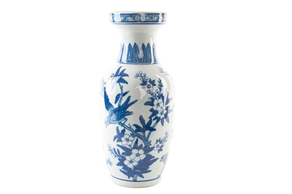 Plavo bela vaza 15x36
