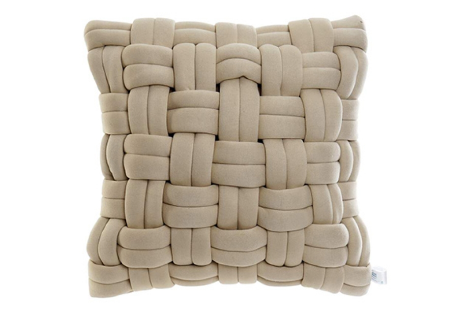 Pleteni jastuk beige 45x45